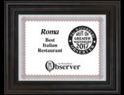 best-italian-restaurant-ct-roma-ristorante-framed